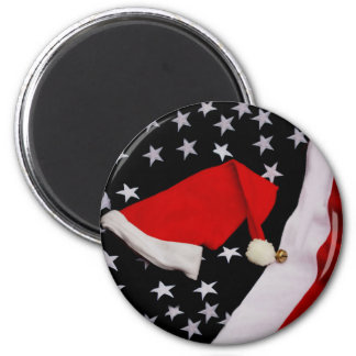 Star-Spangled Christmas 6 Cm Round Magnet
