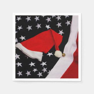 Star-Spangled Christmas Disposable Serviette
