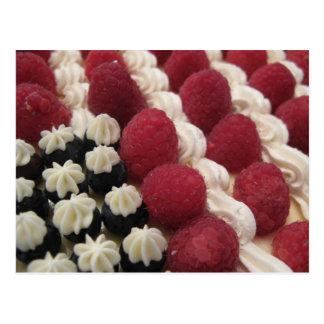 star spangled cream and berries postcard