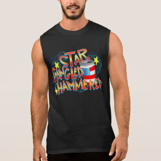 Star Spangled Hammered 4th of July Sleeveless Shirt