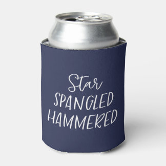 Star Spangled Hammered Can Cooler 4th of July