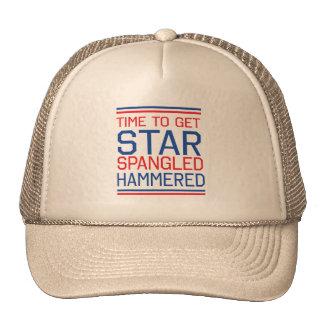 Star Spangled Hammered Mesh Hat