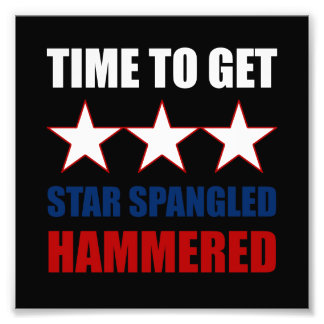 Star Spangled Hammered Photo Print