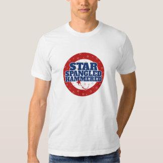Star spangled hammered tshirt