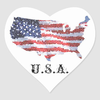 Star Spangled Heart Heart Sticker