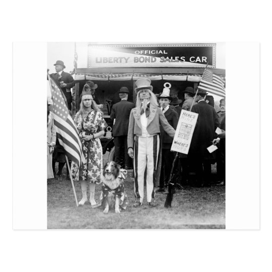 Star-Spangled Sales: 1918 Postcard