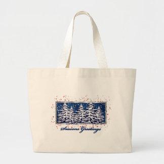 Star Spangled Seasons Greetings Light Tote Bag