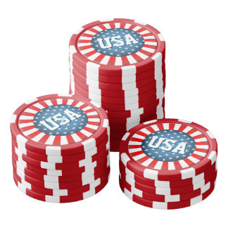 Star-Spangled Style Poker Chips Set