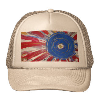 """""""Star-Spangled Sun"""" by Candy Waters Autism Artist Trucker Hat"""