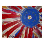 """""""Star-Spangled Sun"""" by Candy Waters Autism Artist Poster"""