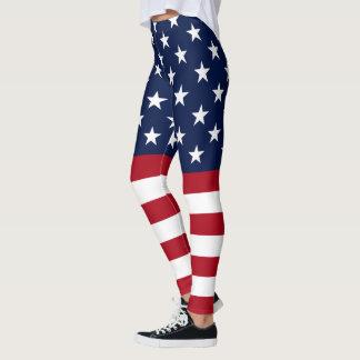 Star Spangled USA Flag Leggings