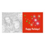 Star Sparkle Holidays Photo Cards