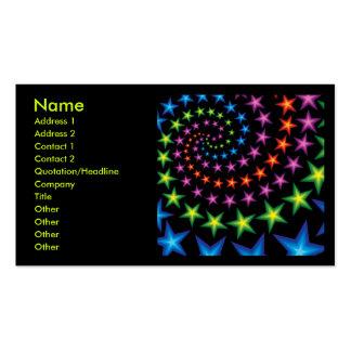 star spirals business card templates