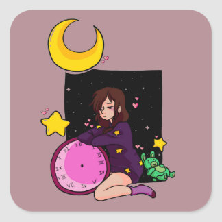 Star Square Sticker