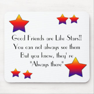 star star Good Friend Mouse Pads