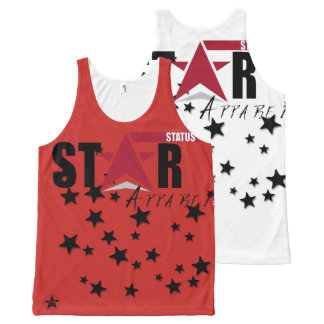 Star Status Apparel All-Over Printed Tanks