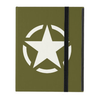 Star Stencil Classic on Khaki Green Case For iPad