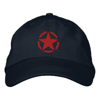 Star Stencil Vintage Decal Stylish Embroidery Baseball Cap