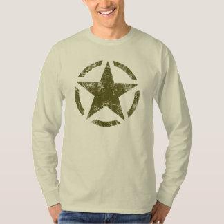 Star Stencil Vintage Jeep Decal Grunge Style Tshirt