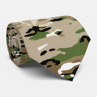 Star Stencil Vintage Jeep Decal on Camo Style Tie
