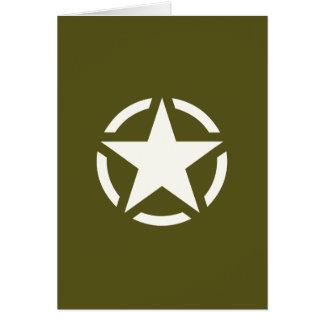 Star Stencil Vintage on Khaki Green Card