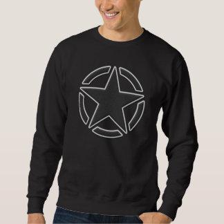 Star Stencil Vintage Patch Style Sweatshirt