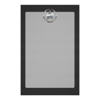 Star Stencil Vintage Tag Carbon Fiber Style Personalised Stationery