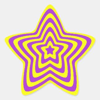 Star Sticker - Yellow and Purple