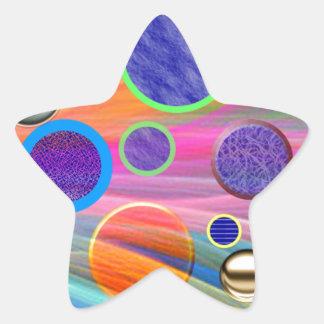 Star Stickers - Artistic Design of Dot Bubbles