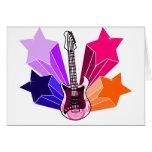 Star Struck Guitar Greeting Card