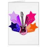 Star Struck Guitar Greeting Cards