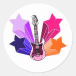 Star Struck Guitar Stickers