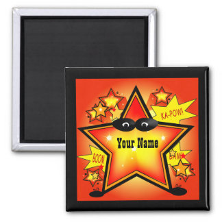 Star Superhero Kid Name Custom Magnet
