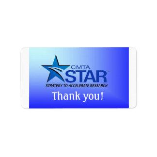 STAR Thank You Label Address Label