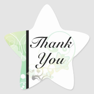 Star Thank You Seal | Bubble Star Fairy Tale Star Sticker