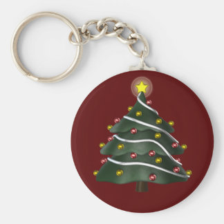 Star-topped Christmas Tree Keychain
