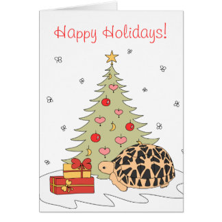 Star Tortoise Christmas Card (xmas tree)