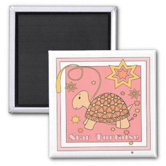 Star Tortoise Magnet (stars pink)