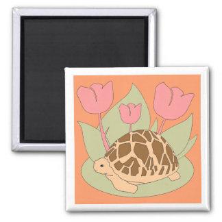 Star Tortoise Magnet (tulips orange)