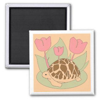 Star Tortoise Magnet (tulips yellow)