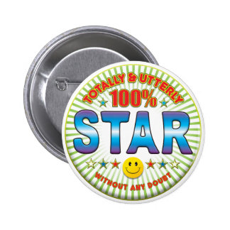 Star Totally 6 Cm Round Badge