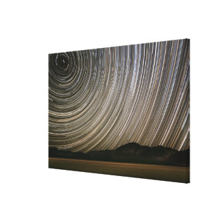 Star Trail at Night | California, Death Valley Canvas Print