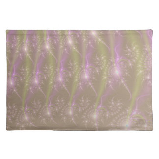 Star Trails in Green and Pink Placemats