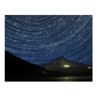 Star Trails Over Mount Hood at Trillium Lake OR Postcard
