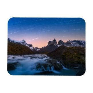 Star Trails Over Torres Del Paine Magnet