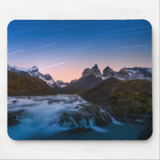 Star Trails Over Torres Del Paine Mouse Pad