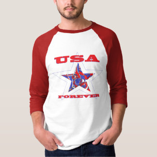 Star USA Forever Patriotic Tee~ Red White & Blue T-Shirt