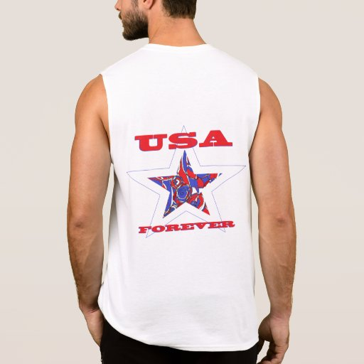 Star USA Forever Patriotic Tee~ Red White & Blue