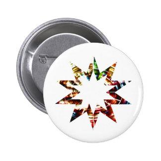 Star V2 - Sparkle Red Star 6 Cm Round Badge