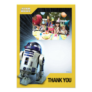 Star Wars R2-D2 Thank You Photo Template Invitations